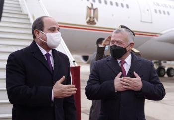 السيسي يغادر الأردن الثلاثاء