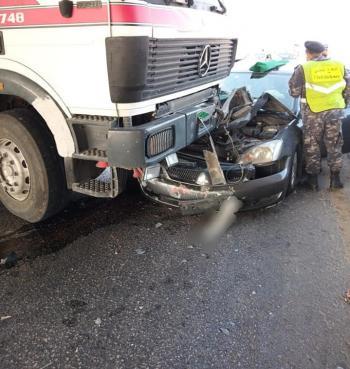 3 اصابات بتصادم 5 مركبات في الرصيفة