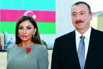 رئيس أذربيجان يعين زوجته نائباً له