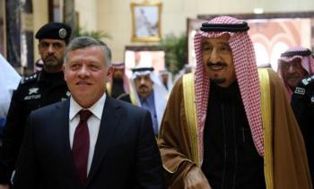الملك يهنئ خادم الحرمين الشريفين باليوم الوطني للسعودية