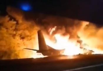 مقتل 22 شخصا في تحطم طائرة عسكرية أوكرانية