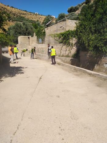 حملة نظافة شاملة لمجرى وادي الريان السياحي بالكورة