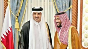 أمير قطر وولي العهد السعودي يتبادلان التهاني بحلول شهر رمضان