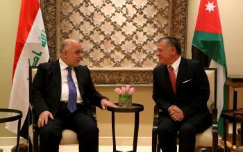 الملك يلتقي رئيس الوزراء العراقي
