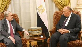 شكري يطلع جوتيريس على مقترح مصر بشأن وساطة سد النهضة