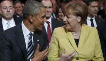 شعبك والعالم مدينون لك ..  أوباما يشكر ميركل