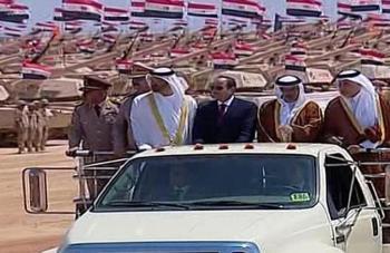 السيسي يفتتح قاعدة عسكرية كبرى شمالي مصر