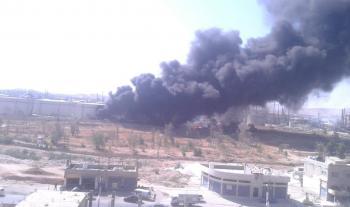 حريق في محيط مصفاة البترول (فيديو، صور)