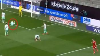 لاعب يتصدى ببطنه لثلاث كرات صاروخية في الدوري الألماني (فيديو)