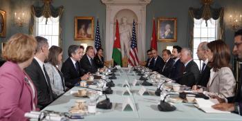 الملك لوزير خارجية أمريكا: يمكنكم دائماً الاعتماد على الأردن