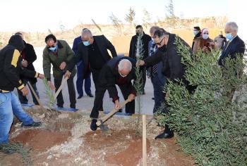 برعاية وزير الزراعة جامعة عمان العربية تحتفل بيوم الشجرة