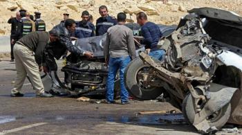 إصابة 36 شخصا بحادث تصادم حافلتين غربي الإسكندرية