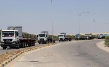 الملك يوجه بإرسال قافلة تعزيز إلى المستشفى الميداني الأردني في غزة (صور)