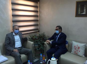 مفوض حقوق الإنسان يلتقي السفير الأفغاني