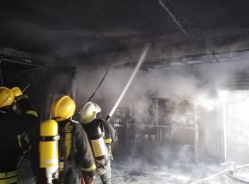 حريق فرن دهان مركبات في عمان