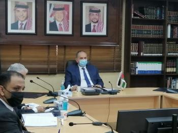 التلهوني يشارك في إجتماع مجلس وزراء العدل العرب