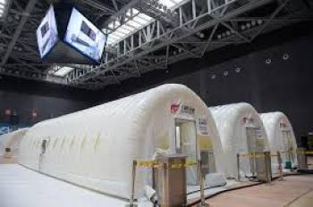 تشغيل أول مختبر متنقل قابل للنفخ لإجراء اختبارات كورونا في بكين
