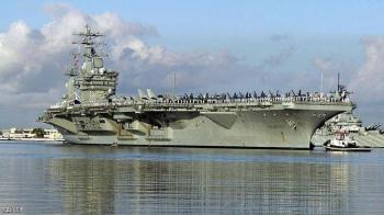 صواريخ ايرانية تسقط قرب حاملة طائرات أميركية في بحر العرب