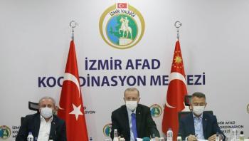 ارتفاع عدد الضحايا زلزال ازمير إلى 39 قتيلا وأردوغان يتفقد الموقع