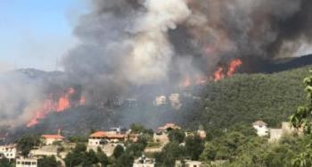 وفاة فتى خلال مشاركته في إخماد حرائق لبنان