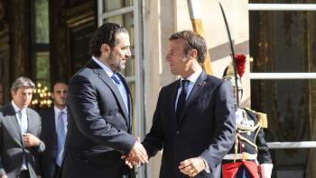 ماكرون يبحث مع الحريري صعوبات تشكيل الحكومة اللبنانية