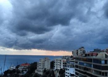 منخفض جوي يؤثر على لبنان اعتبارا من مساء الأربعاء
