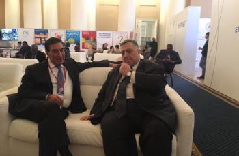 لقاء برلماني اردني سوري على هامش المؤتمر الدولي في روسيا