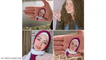 رسامة مصرية شابة تخطف الأنظار بلوحات على كف اليد