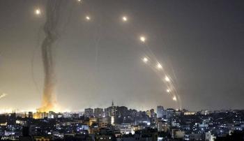 رشقة صاروخية من غزة على تل أبيب وأسدود وعسقلان وبئر السبع