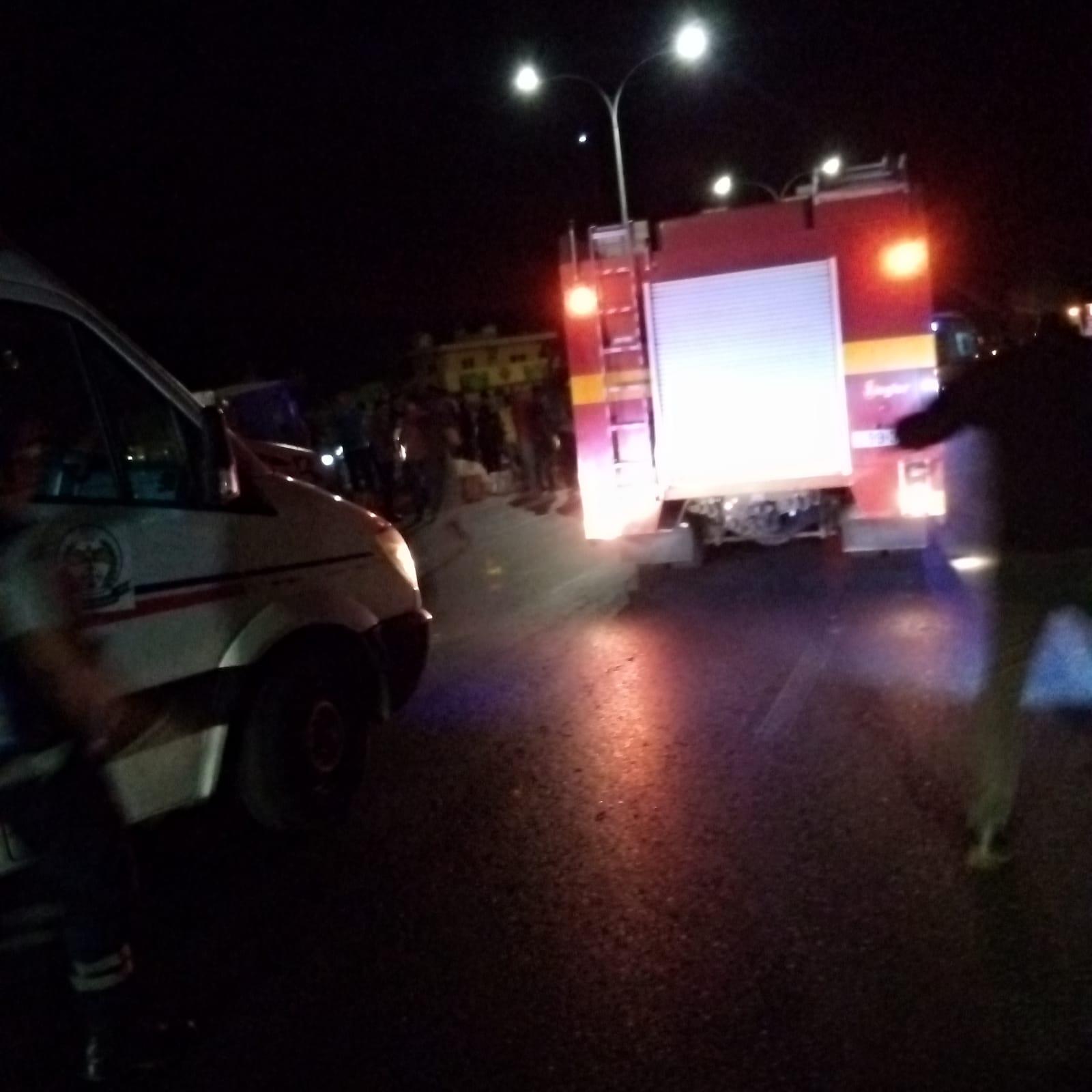 اصابتان بتدهور مركبة واصطدامها باخرى في جرش (صور)