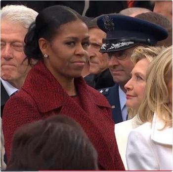 هكذا نظرت ميشال أوباما إلى عائلة ترمب ..