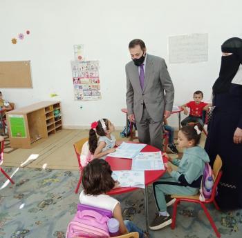 جولة تفقدية لوزير التربيه على عدد من مدارس محافظة جرش