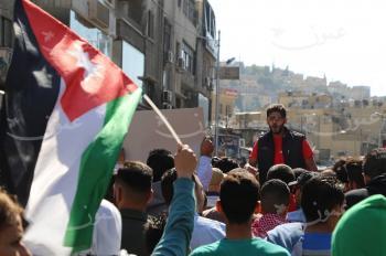 مسيرة أمام الحسيني: وادي عربة مش سلام