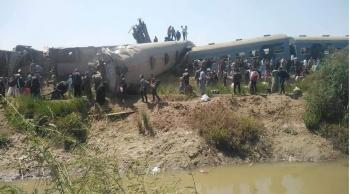 32 قتيلاً و91 جريحاً باصطدام قطارين في مصر