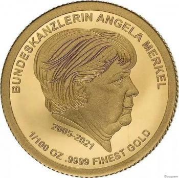 عملة من الذهب الخالص في ألمانيا تحمل صورة ميركل