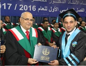 د. مالك محمد عليمات .. مبارك التخرج