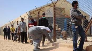 807 أشخاص أصيبوا بكورونا في مخيمات اللاجئين السوريين بالأردن
