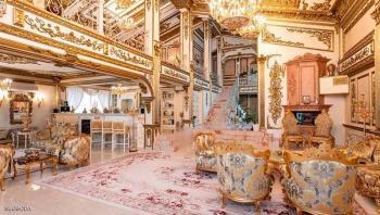 قصر مطلي بالذهب للبيع
