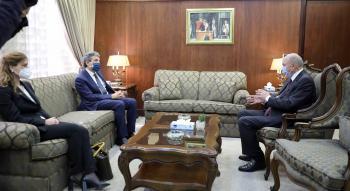 الفايز يلتقي السفير الايطالي لدى المملكة