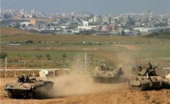 الاحتلال الاسرائيلي يتوغل وسط قطاع غزة