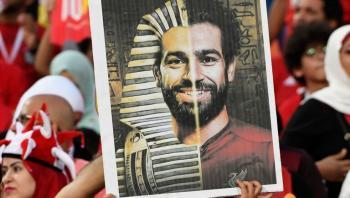 محمد صلاح يظهر أمام فرعون حقيقي (صورة)