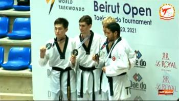 الأردن يحصد 5 ميداليات ببطولة بيروت للتايكواندو