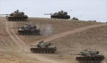 دخول دبابات تركية إلى الاراضي السورية