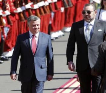 الملك يهنئ بذكرى جلوس ملك المغرب على العرش