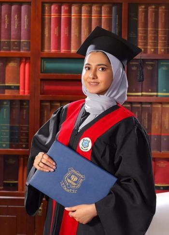 تالا نبيل  ..  ألف مبارك البكالوريوس من عمان الاهلية