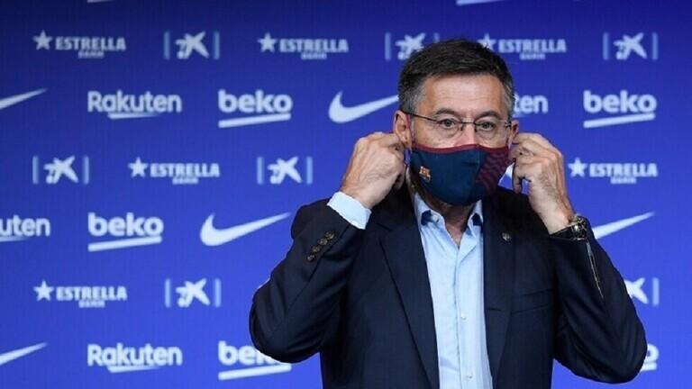 بعد اجتماع طارئ ..  رئيس نادي برشلونة يعلن موقفه من الاستقالة