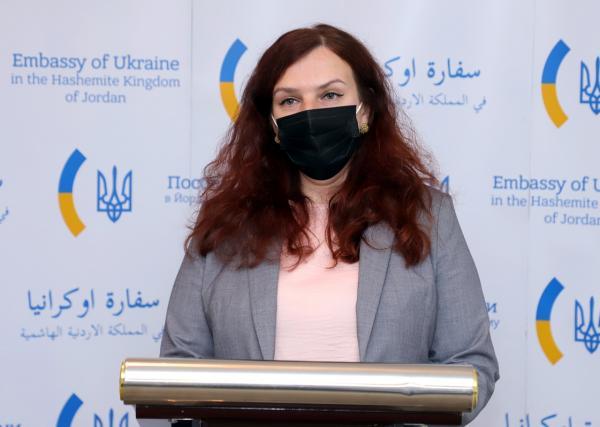 السفيرة الأوكرانية في عمّان ميروسلافا شيرباتيوك