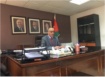 تهنئة للمحافظ احمد محمد العجلوني