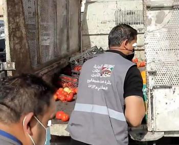 أمانة عمان: تحقيق بفيديو اتلاف بضائع بسطات