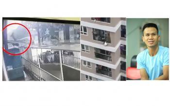 عامل توصيل يغدو بطلاً بعد إنقاذه طفلة سقطت من الطابق الـ12